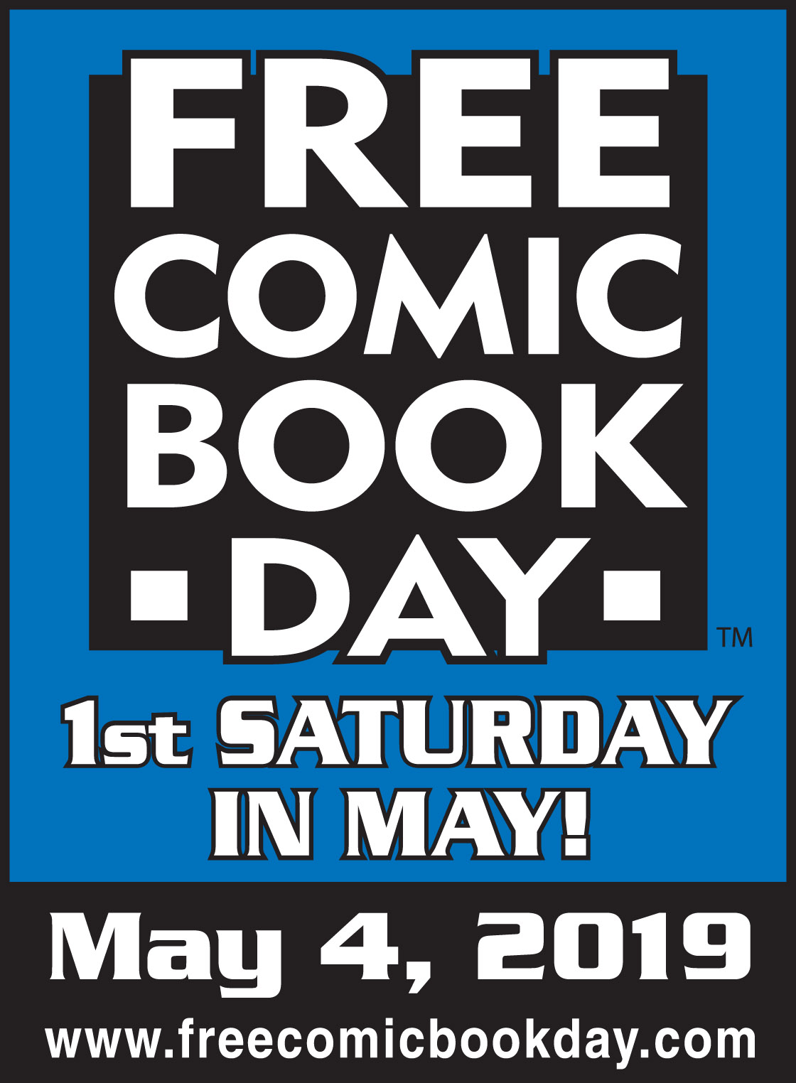 Free Comic Book Day, FCBD, logo, May 4