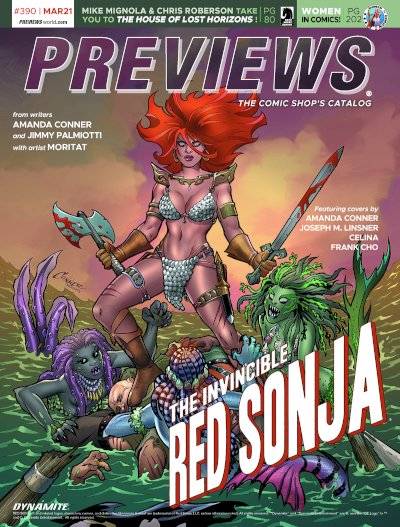 Front Cover -- Dynamite Entertainment's Invincible Red Sonja